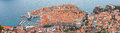 Panoramic vie dubrovnic croatia Stock Image