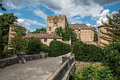 Panoramic view of Allemagne–en–Provence Castle, near the village of the same name.