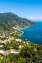 Panoramic view of the Amalfi Coast Royalty Free Stock Photo