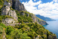 Panoramic view of the Amalfi coast in Italy Royalty Free Stock Photo