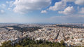 Panoramic view of athens greece from lycabettus hill Stock Photo
