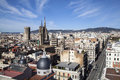 Panoramic view barcelona city s downtown s cathedral Stock Photography