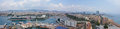 Panoramic view of Barcelona in Spain Royalty Free Stock Images