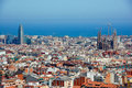 Panoramic view of Barcelona Royalty Free Stock Photo