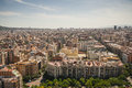 Panoramic view of barcelona from the top of sagrada familia spain Stock Photo