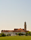 Panoramic view of a baroque monastery in austria Royalty Free Stock Images