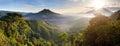 Panoramic view Batur volcano Royalty Free Stock Photo