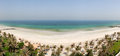 Panoramic view on a beach Royalty Free Stock Image
