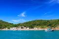 Panoramic view of beach azeda bã zios brazil near rio de janeiro Royalty Free Stock Image