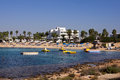 Panoramic view of Beach Makronissos, Agia Napa Royalty Free Stock Photo