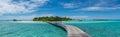 Panoramic view of the beautiful tropical island at Maldives Royalty Free Stock Photo