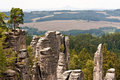 Panoramic view Bohemian Paradise, Czech Royalty Free Stock Photos