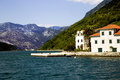 Panoramic view of boka kotorska bay montenegro Royalty Free Stock Images