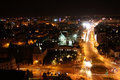 Panoramic view of bucharest romania at night the old town Royalty Free Stock Photography