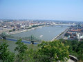Panoramic view of budapest and the danube river hungary Royalty Free Stock Photo