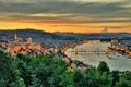 Panoramic view of Budapest Royalty Free Stock Photo