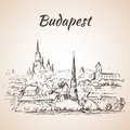 Panoramic view of Budapest - Hungary Royalty Free Stock Photo