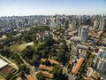Panoramic view of the buildings and houses of the Vila Mariana neighborhood in São Paulo, Brazil Royalty Free Stock Photo