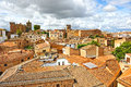 Panoramic view of caceres extremadura spain birds eye from the medieval city from the tower the cathedral its historic center is Stock Photos