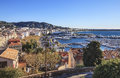 Panoramic view of Cannes city, France
