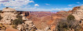Panoramic view of Canyonlands national park Stock Images