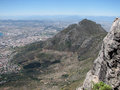 Panoramic view Cape Town and Table mountain Royalty Free Stock Photo