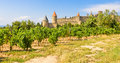 Panoramic view of carcassonne france Stock Photos