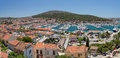 Panoramic view of cesme turkey is a coastal town and the administrative centre the district the same name in s westernmost end on Royalty Free Stock Image