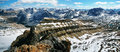 Panoramic view from cirque peak banff national park Stock Photography