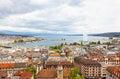 Panoramic view of city of Geneva Royalty Free Stock Photo