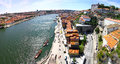 Panoramic view of city of porto portugal and douro river Royalty Free Stock Image