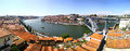 Panoramic view of city of porto portugal ponte luis i bridge and douro river Stock Images