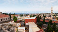 Panoramic view of the city of rhodes island vacation in greece high resolution panorama Stock Photo