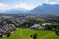 Panoramic view of the city of salzburg austria Stock Photo