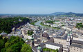 Panoramic view of the city of salzburg austria Royalty Free Stock Image
