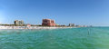 Panoramic View of Clearwater, Florida Stock Image