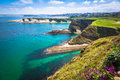 Panoramic view of the coast of Santander from the Bella Vista li Royalty Free Stock Photo