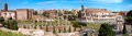 Panoramic view of colosseo arc of constantine and venus temple r from roman forum at rome Stock Photos