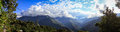 Panoramic View from Coroico, Yungas, Bolivia Royalty Free Stock Photo