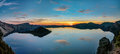 Panoramic view of Crater Lake Royalty Free Stock Photo