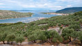Panoramic view of cres marina and town in croatia Royalty Free Stock Photo