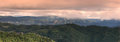 Panoramic view of doi mae salong chiang rai north of thailand Stock Photos