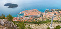 Panoramic view dubrovnic croatia Royalty Free Stock Photos