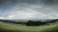 Panoramic view of English countryside Stock Photo
