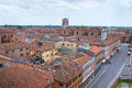 Panoramic view of Ferrara. Emilia-Romagna. Italy. Royalty Free Stock Images