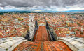 Panoramic view of florence from cupola of duomo cathedral italy Royalty Free Stock Images