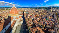 Panoramic view of Florence with Duomo and cupola Royalty Free Stock Photo