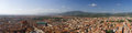 Panoramic view of Florence and mountains Royalty Free Stock Photography