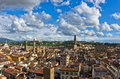 Panoramic view of Florence with Palazzo Vecchio and other landmarks, Tuscany Royalty Free Stock Photo