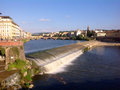 Panoramic view of florence and river arno italy Royalty Free Stock Images